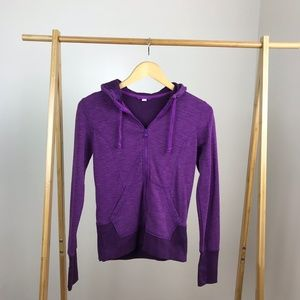 Lucy • Full Zip Purple Hoodie Size Extra Small